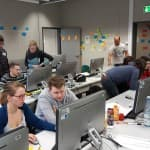 Technomathematik goes agile, Gruppenbild, Präsentation,Vorbereitung, Brainstorming