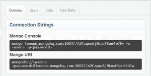 MongoDB Connection Settings