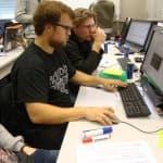Agile Software Factory Boot Camp mit der FH Aachen, Gruppenbild, Präsentation