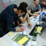 Agile Software Factory Boot Camp mit der FH Aachen, Fragen, Karten, Spiel, Gruppenbild, Präsentation