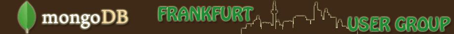mongoDB User Gruppe Frankfurt, Grafik, Banner