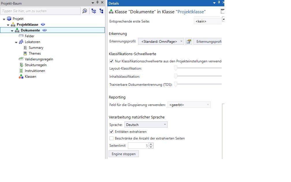 KTM: NLP Einstellungen auf Dokumentklassenebene