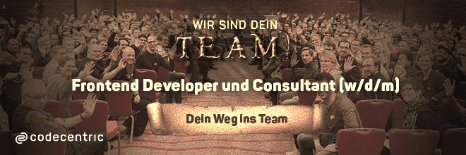 Finde jetzt als Frontend Developer und Consultant deinen Wen in dein neues Team!