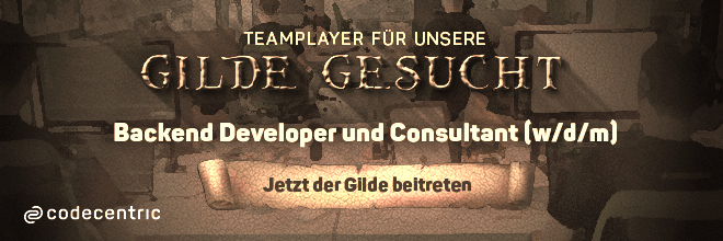 Mitglieder für unsere Gilde gesucht! Jetzt der Gilde als Backend Developer und Consultant (w/d/m) beitreten
